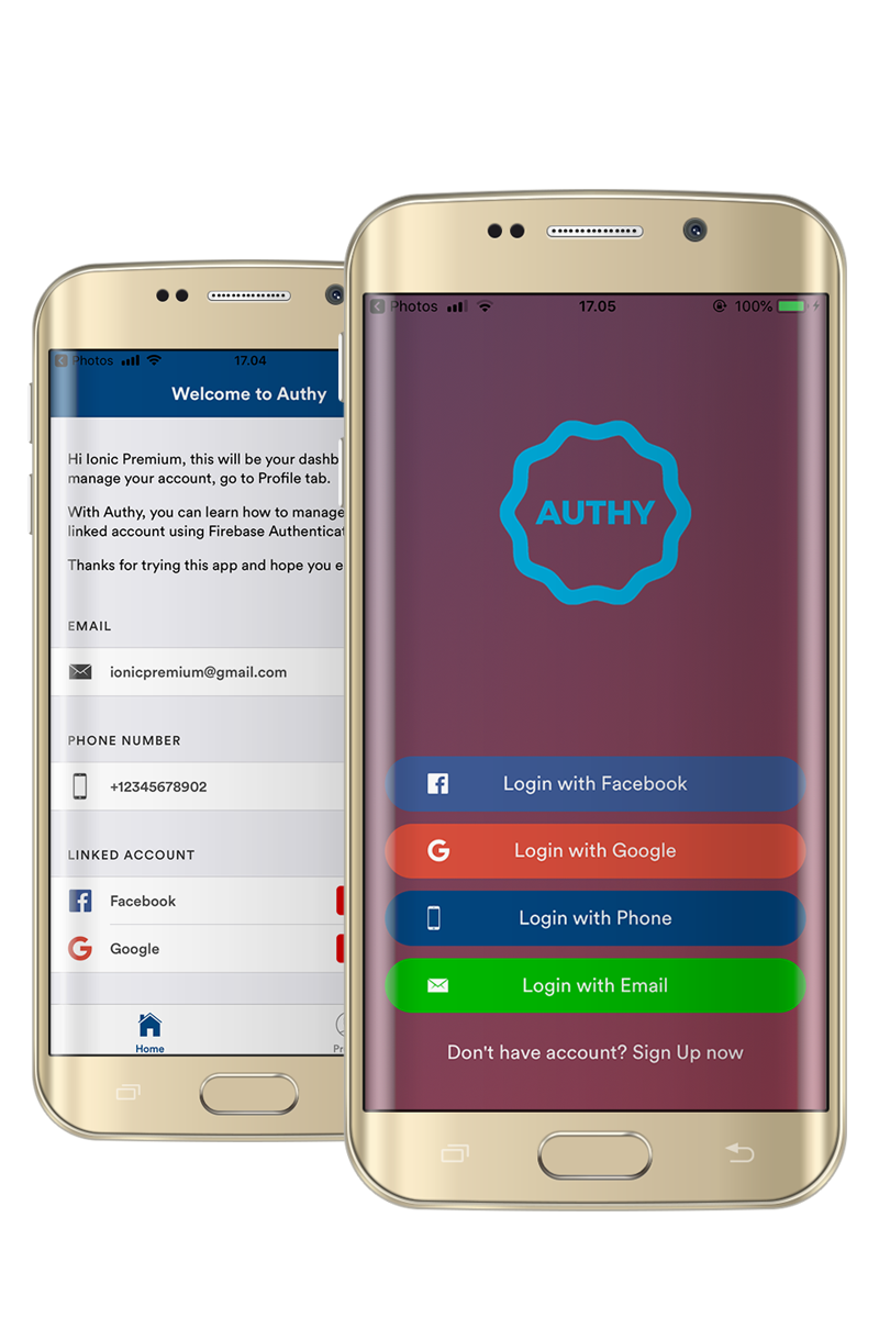 Authy - Ionic 4 Firebase Social Authentication for Android and iOS